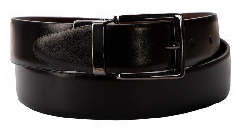 BELT ZK 1804 1 3,2 CM BLACK/BROWN