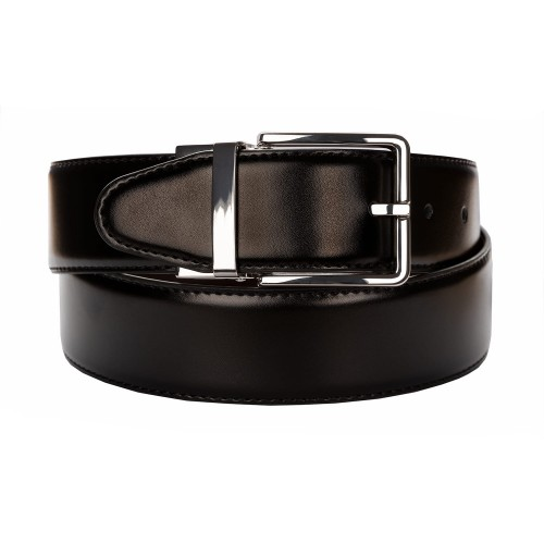 BELT ZK 1805 1 4,0 CM BLACK/BROWN
