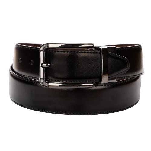 BELT ZK 1806 2 3,5 CM BLACK/BROWN