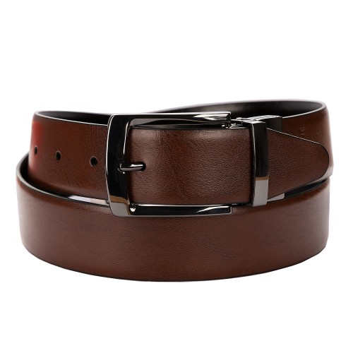 BELT ZK 1807 2 3,5 CM BLACK/BROWN