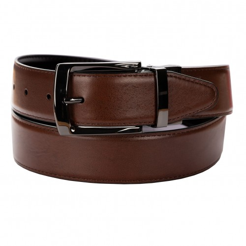 BELT ZK 1807 3 3,5 CM BLACK/BROWN