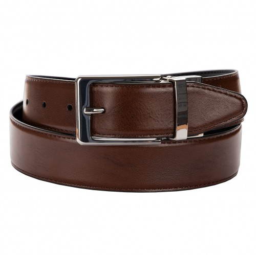 BELT ZK 1808 1 3,5 CM BLACK/BROWN