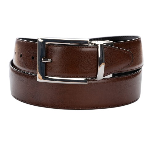 BELT ZK 1809 1 3,5 CM BLACK/BROWN