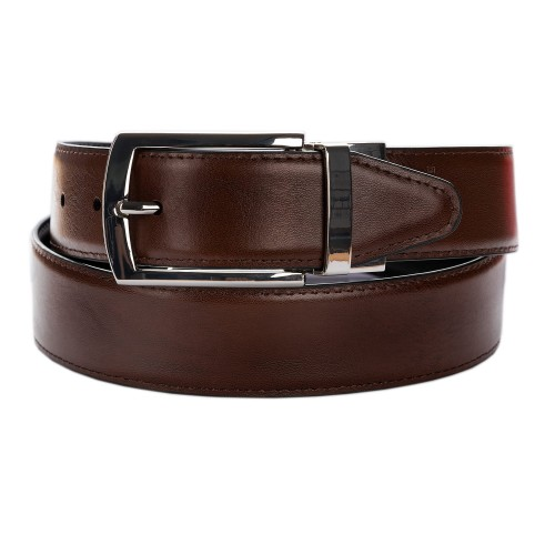 BELT ZK1810A 3,5 CM BLACK /BROWN NICKEL